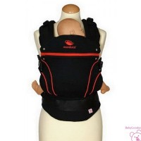 MOCHILA PORTABEBE MANDUCA BLACK LINE RADICAL RED