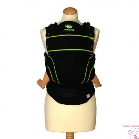 MOCHILA PORTABEBE MANDUCA BLACK LINE SCREEMINGREEN