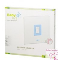 BABY ART FIRST YEARS SCRAPBOOK WHITE & BLUE/PINK