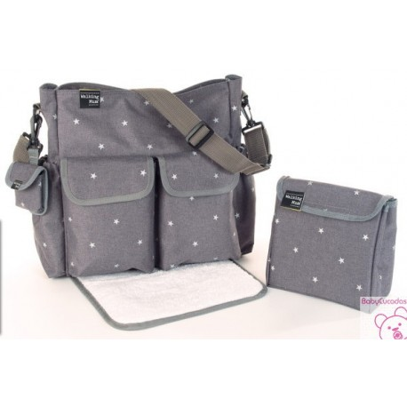 BOLSA CANASTILLA GABY WINTER GRIS WALKING MUM BY PASITO A PASITO