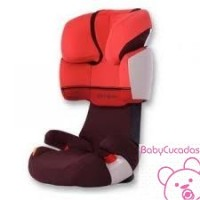 SILLA DE COCHE SOLUTION X-FIX ROJO BURDEOS CYBEX