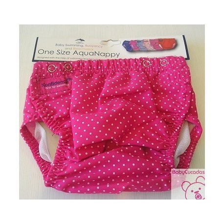 BRAGUITA-PAÑAL TOPITOS FUCSIA BABY SWIMMING KONFIDENCE