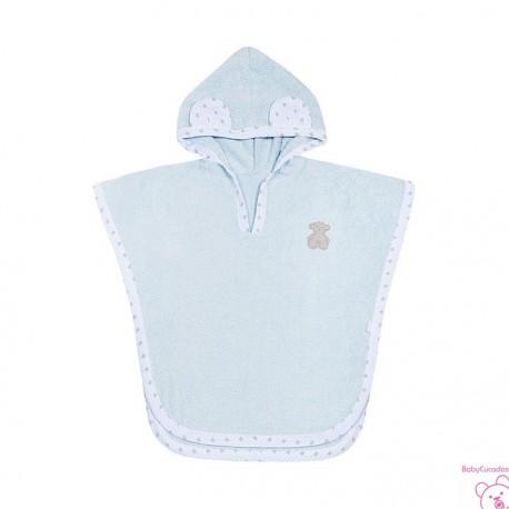 Capa de ba/ño con capucha color gris Funny Baby Ines 80 x 80 cm