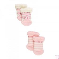 SET CALCETINES ANTIDESLIZANTES SWEET SOCKS-705 BABY TOUS