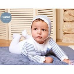 Conjunto primera puesta punto rayado Juliana j4038