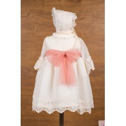 Vestido plumeti organza Mikamama 34407