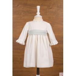 Vestido lino con lazo tul Mikamama 30321